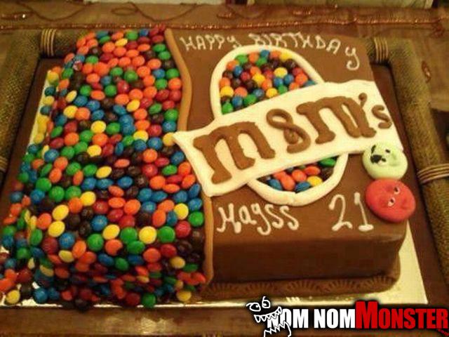 21st Birthday Cake Nom Monster